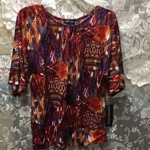 Notations 3/4 sleeves top size small